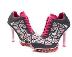 2014 new arrive fashion pumps nike  woman high heels shoes sneakers for women sneakers women sports shoes Black with pink € 52,64