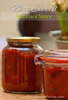 H~7/2014 wonderful, omitted sausage so I can it.  Best Ever!!! Marinara Sauce - thecafesucrefarine.com