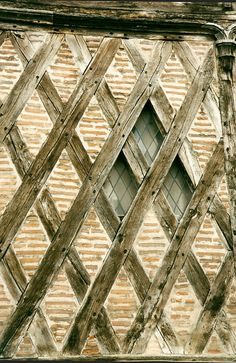 Vieux Tours, France  has many medieval timbered houses with wonderful windows