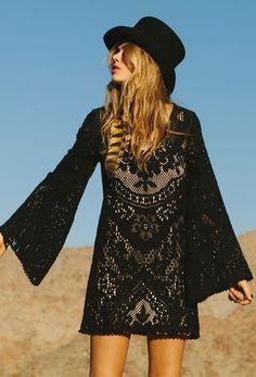Fleetwood Lace Dress - Black