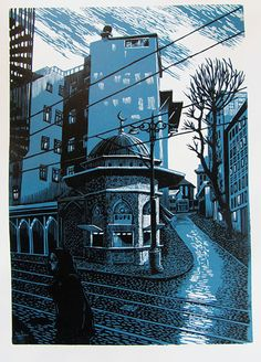 Hidden figure, architecture, tree style, path, city feeling and tone to palette -- Bryan Angus