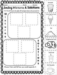 Worksheets Mixtures And Solutions Worksheets our 5 favorite prek math worksheets fourth grade mixtures and solutions activities notebook worksheets