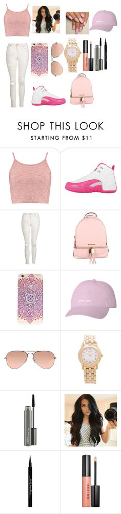"""Pink And White Fall Swag :)"" by jaden-norman on Polyvore featuring Boohoo, NIKE, Topshop, MICHAEL Michael Kors, Ray-Ban, Gucci, MAC Cosmetics, Givenchy and Bobbi Brown Cosmetics"