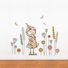 Hey, I found this really awesome Etsy listing at https://www.etsy.com/listing/115215815/viollettes-garden-wall-decal-color-print