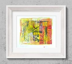 "Saatchi Art Artist Tezcan Bahar; Printmaking, ""Monotype - Limited Edition 1 of 1"" #art"