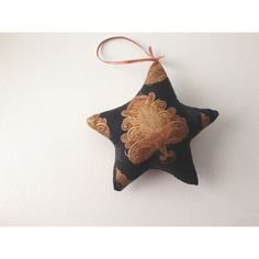 Christmas Star, Christmas Ornament, Star Ornament, Pillow Ornament,... ($4.99) ❤ liked on Polyvore featuring home, home decor, holiday decorations, christmas topper, star christmas tree ornaments, christmas holiday decor, christmas home decor and xmas tree ornaments