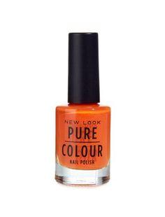 This Pure Colour Bright Orange Nail Polish makes us think of holidays...#newlook #beauty