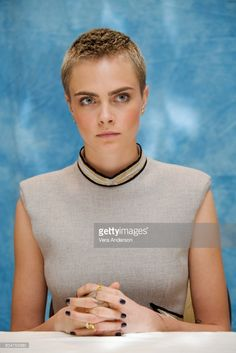 Cara Delevingne at the 'Valerian and the City of a Thousand Planets' Press Conference at the Four Seasons Hotel on June 30, 2017 in Beverly Hills, California.