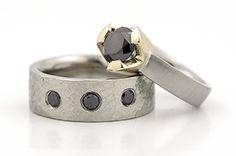 Palladium, Black Diamonds, Stainless Steel, 14K Yellow Gold http://www.johnpauldesigns.com/