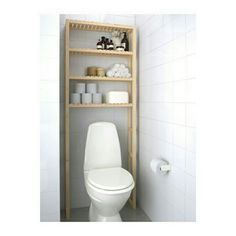 IKEA - MOLGER, Open storage, birch, , The open shelves give an easy overview and easy reach. Apartment Storage, Toilet Shelves, Ikea, Ikea Bathroom, Ikea Closet Hack, Ikea Storage, Trendy Bathroom, Bathroom Design, Open Storage