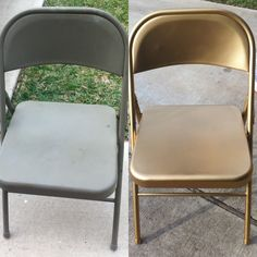 metal chairs before and after crafty painted metal chairs metal chairs metal folding chairs. Black Bedroom Furniture Sets. Home Design Ideas