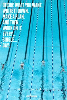 """Decide What You Want..."" Motivational Swimming Poster - $29"