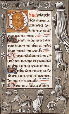 edward gorey in renaissance holland. the hague, KB, 133 E f. book of hours (use of rome), southern netherlands; Medieval World, Medieval Art, Illuminated Letters, Illuminated Manuscript, Character Symbols, Art Et Architecture, Book Of Kells, Letter Example, Book Of Hours