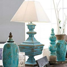 Living Room Furniture Turquoise Lamp