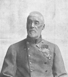 Archduke Albrecht of Austria, Duke of Teschen (1817 – 1895). He was the eldest son of Archduke Charles of Austria and a grand son of Emperor Leopold II, He married Princess Hildegard of Bavaria (1825-1864). They had two daughters.