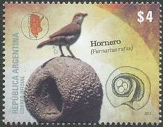 Stamps showing Rufous Hornero Furnarius rufus, with distribution map showing range Argentine, Stamp Collecting, 16th Century, Postage Stamps, Decoupage, Birds, Gallery, Image, Horn