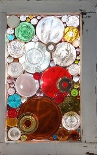 repurpose old plate and glasses - Google Search