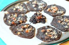 Chocolate Almond Joy Spoon Cookies by Food Frenzy Digest Kinds Of Cookies, Almond Joy, Wax Paper, Fudge, Spoon, Oven, Muffin, Tasty, Snacks
