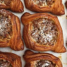 - 3 weeks left Elwood.  Aside from our traditional croissant this one is a quiet favourite of mine; the Apple Crumble Danish served w/ whipped vanilla bean cream. It's just all those classic comforting flavours that are just plain delicious. - #lunecroissant #3weeks by lunecroissant