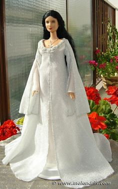 ooak Arwen angel dress for Barbie doll