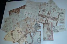 Printable Hand Stamped Vintage Junk Journal and Ephemera Sheets for Junk Journals Mini Albums Scrapbooks Paper Crafts Sale Half 50% Off