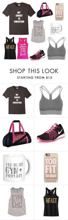 """Sweat Sesh"" by bookworm528 on Polyvore featuring Zensah, NIKE and Casetify"