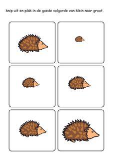 * Egels: Van groot naar klein!