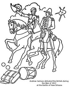 battle of new orleans coloring page