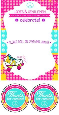 Free Roller Skate Invitation Template Free Roller Skating Birthday