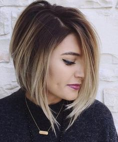 Angled Balayage Bob w/ Red though