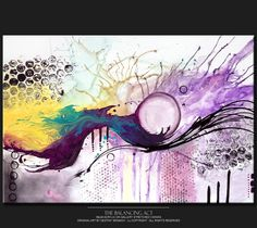 Abstract Art Painting on Canvas Original 36x24 by wostudios, $169.00
