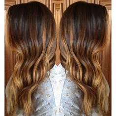 Brunette and caramel/ honey blonde ombré