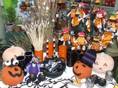 A wide variety of handmade items for Halloween and fall are available at The Garden Store. Items vary by season.