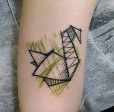 61 Beautiful Origami Inspired Tattoo Designs