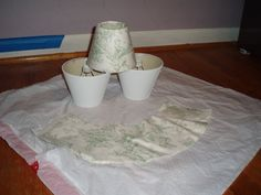 Recovering lampshades with fabric