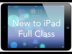 """Take our FREE classes at http://pcclassesonline.com This """"New to iPad"""" class covers all the basic operations and functions of owning an iPad. In this video t..."""