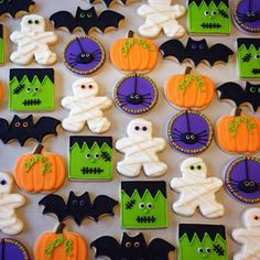 Here are the Halloween Cookie Decorating Ideas. This article about Halloween Cookie Decorating Ideas was posted under the Hallowen Decor Ideas category by our team at October 2019 at am. Hope you enjoy it and don't forget to . Halloween Desserts, Halloween Cupcakes, Cookie Halloween, Postres Halloween, Halloween Cookies Decorated, Halloween Sugar Cookies, Halloween Party Favors, Halloween Goodies, Spooky Halloween