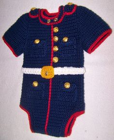 Marine Corps baby USMC dress blues onesie you by conniemariepfost