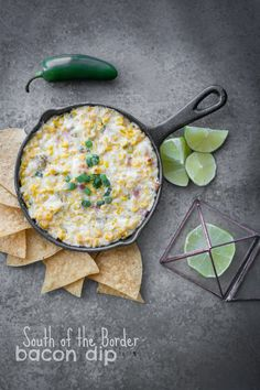 South of the Border Bacon Dip: Perfect for your Super Bowl party..