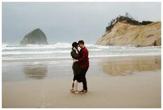 Cape Kiwanda couples photos in Pacific City Oregon by Katy Weaver