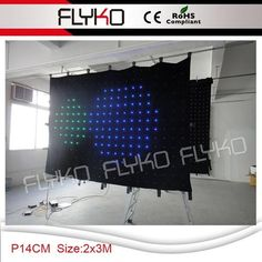 Free Shipping Lights & Lighting Pc Controller Led Soft Curtain Display Led Cortinas Led Video Curtain In Short Supply Commercial Lighting