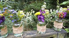 jam jars for the tables