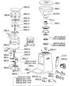 portafilter schematic coffee effects and diagrams pinterest rh pinterest com