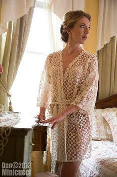 Lace Robe Bridal Robe Honeymoon Lingerie by TheEnchantedTour, $125.00