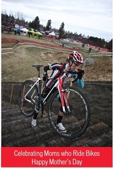 """Uber rad mommy Alexandria Masse on her Specialized Crux, crushing the infamous """"stairs of pain"""" at the USGP of Cyclocross in Bend Oregon. This is how CX moms do it!"""