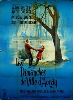 Hardy Kruger Nicole Courcel DIMANCHES DE VILLE D AVRAY Bourguignon 1962 120x160