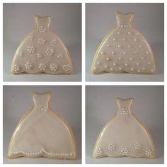 Bridal gown cookies.