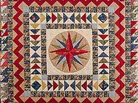 Civil War Mariners Compass Quilt