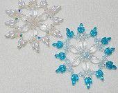 Snowflake 3 Beaded Ornament Pattern by Westtexasjewels on Etsy