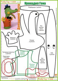 several puppet patterns Marionette Puppet, Sock Puppets, Hand Puppets, Dragon Puppet, Stuffed Animal Patterns, Diy Stuffed Animals, Alligator Crafts, Puppet Patterns, Puppet Crafts